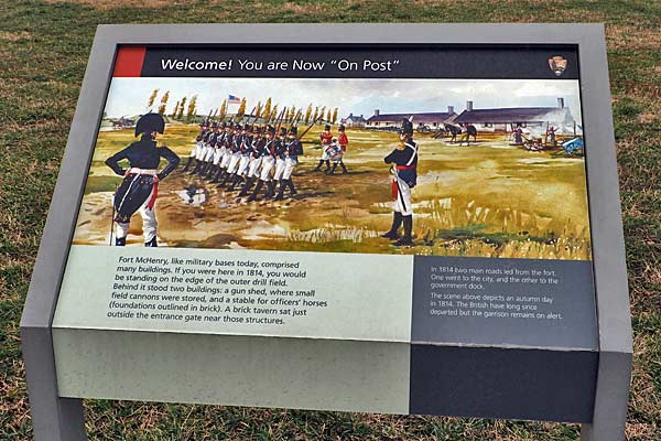 Fort McHenry - On Post - placard
